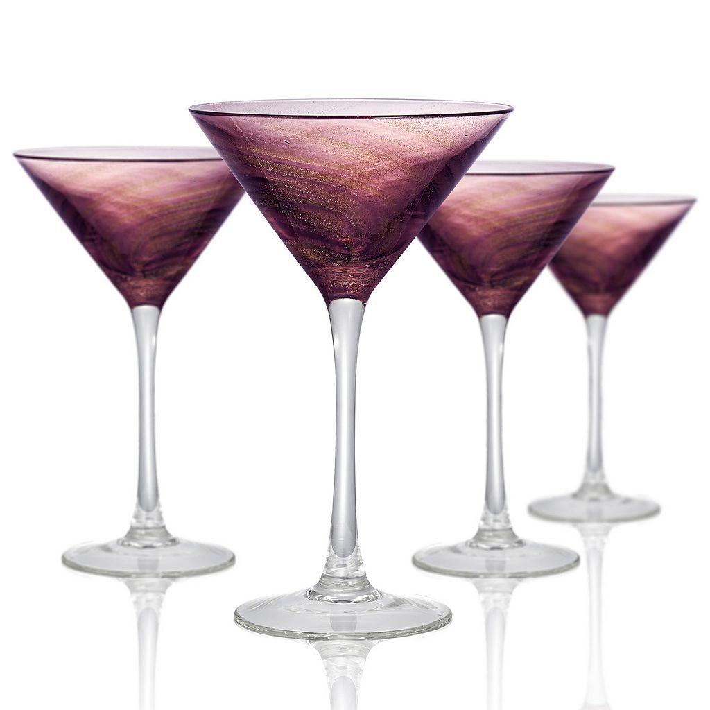 Artland Misty 4-pc. Martini Glass Set