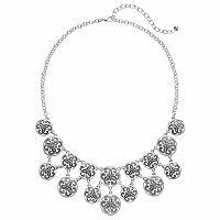 Napier Filigree Disc Tiered Necklace
