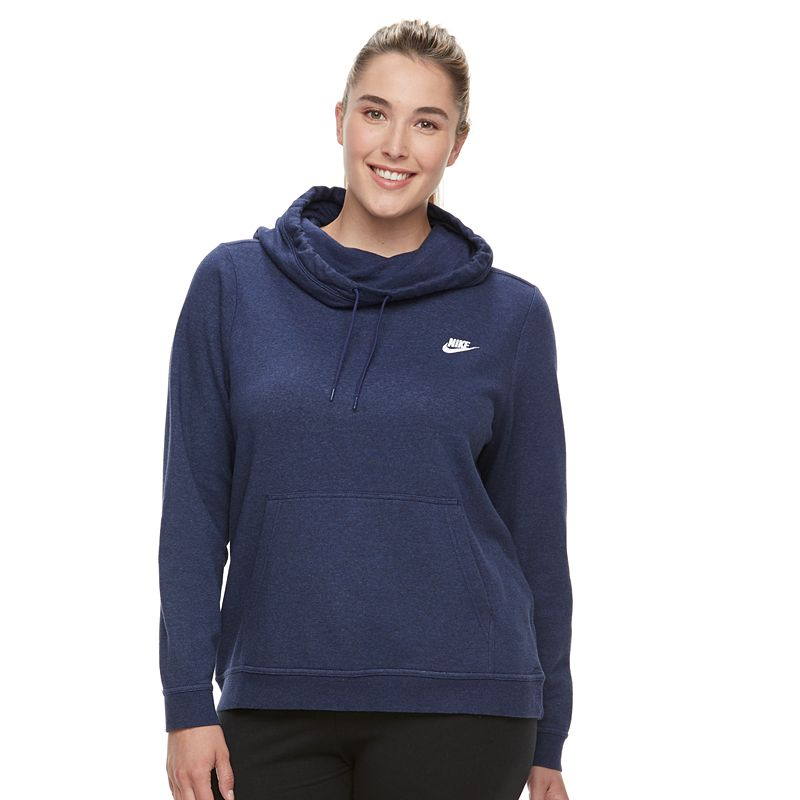 e2ca8c69 Plus Size Nike Cowlneck Hoodie (Grey Other) | Prenzi.com | Your ...
