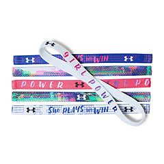 Girls 4-16 Under Armour 6-pk. 'Girl Boss' Logo Mini Headbands