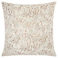 Mina Victory Lumin Beaded Animal Print Throw Pillow