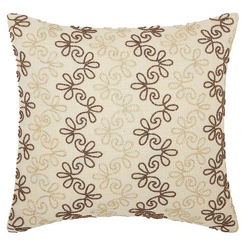 Mina Victory Lumin Flower Stripes Throw Pillow