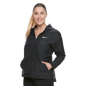 Plus Size Nike Essential Hooded Running Jacket