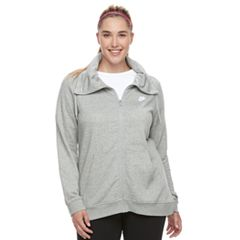 Plus Size Nike Club Funnel Neck Zip-Up Hoodie