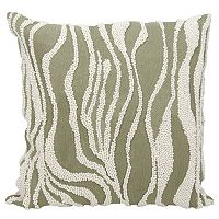 Mina Victory Lumin Beaded Zebra Throw Pillow