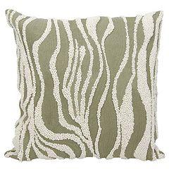 Mina Victory Lumin Beaded Zebra Throw Pillow