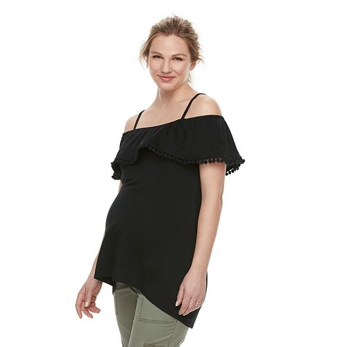 Maternity a:glow Off-the-Shoulder Ricrac Top