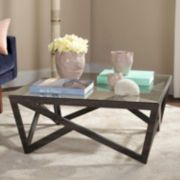 Safavieh Contemporary Wide Glass Top Coffee Table