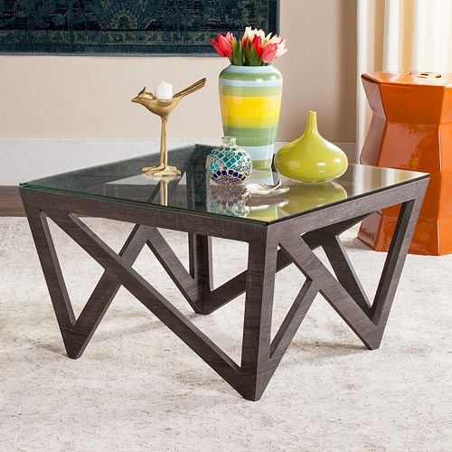 Safavieh contemporary glass top coffee table for Best coffee tables under 500