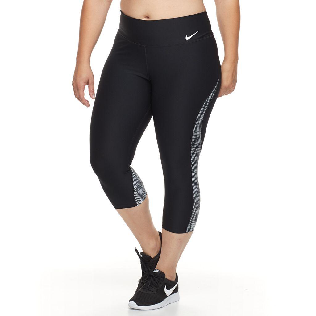 Plus Size Nike Power Training Capri Leggings