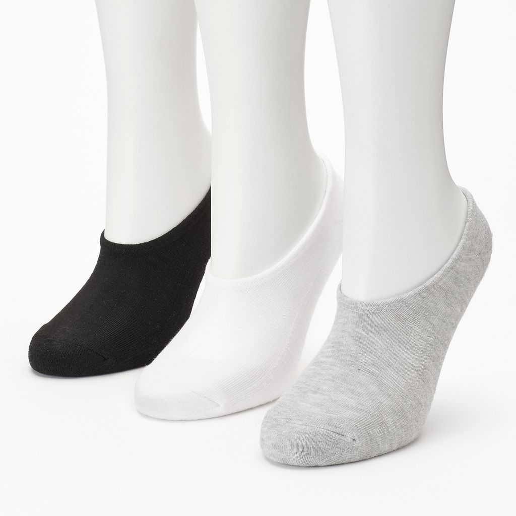 Women's Converse Made For Chucks 3-pk. Solid Ultra Low-Cut Socks