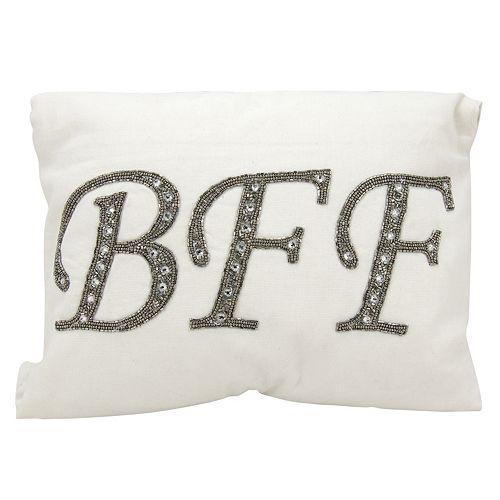 Mina Victory Lumin Beaded ''BFF'' Oblong Throw Pillow