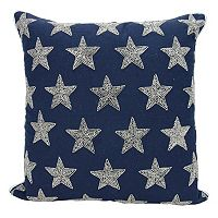 Mina Victory Lumin Beaded Stars Throw Pillow