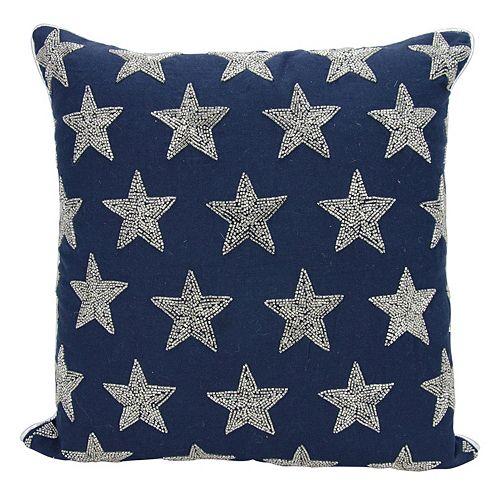 Mina Victory Lumin Beaded Stars Throw Pillow