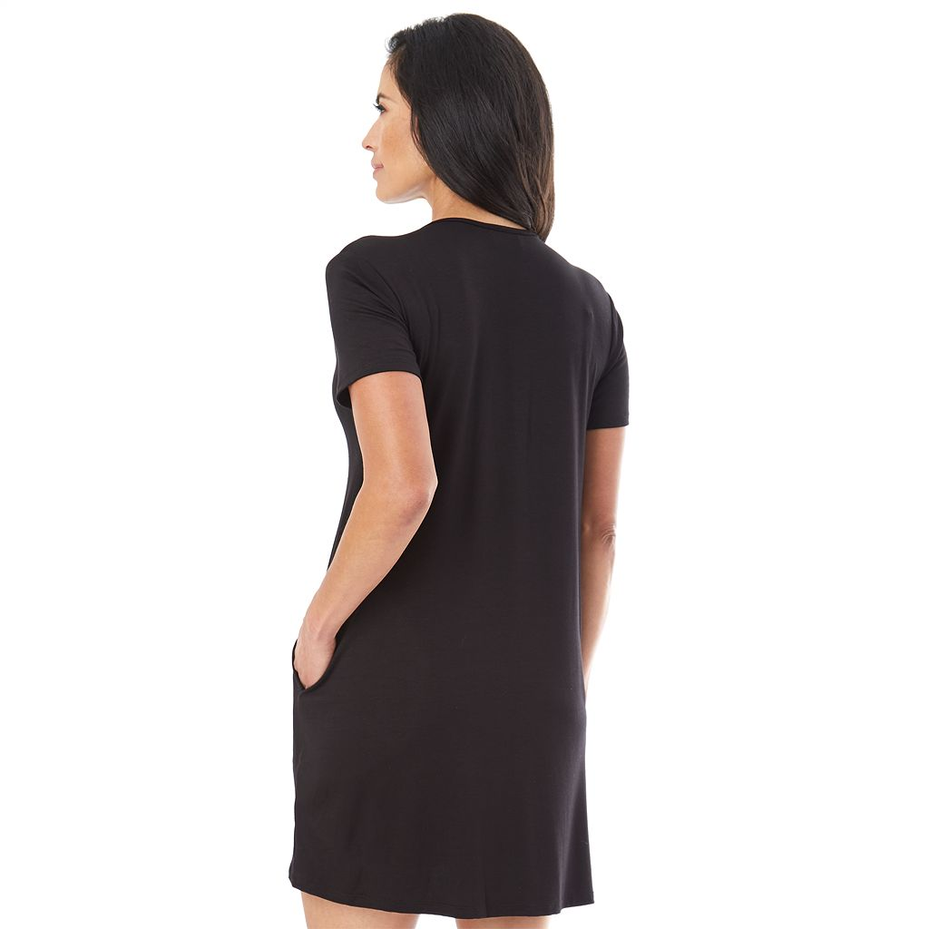 Women's AB Studio Lace-Up Front Swing Dress
