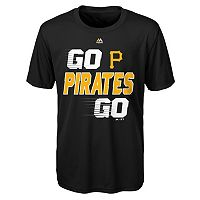 Boys 8-20 Majestic Pittsburgh Pirates Double Header Cool Base Tee