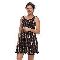 Maternity a:glow Fringe Shift Dress