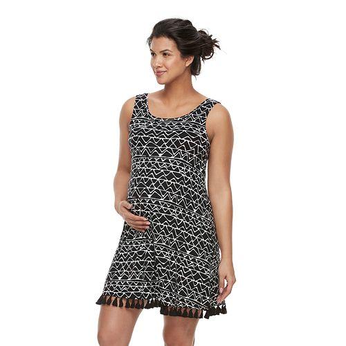 Maternity a:glow Fringe Shift Dress