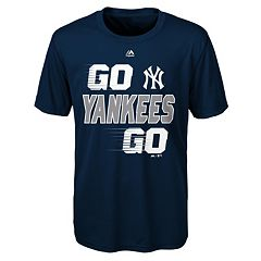 Boys 8-20 Majestic New York Yankees Double Header Cool Base Tee