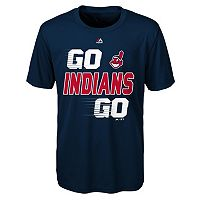 Boys 8-20 Majestic Cleveland Indians Double Header Cool Base Tee