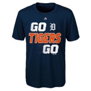Boys 8-20 Majestic Detroit Tigers Double Header Cool Base Tee