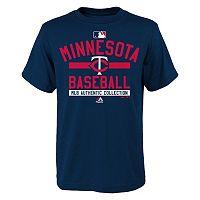 Boys 8-20 Majestic Minnesota Twins Double Header Cool Base Tee