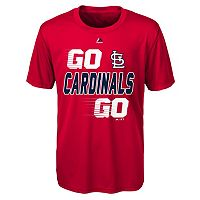Boys 8-20 Majestic St. Louis Cardinals Double Header Cool Base Tee