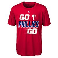 Boys 8-20 Majestic Philadelphia Phillies Double Header Cool Base Tee