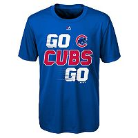 Boys 8-20 Majestic Chicago Cubs Double Header Cool Base Tee