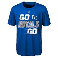 Boys 8-20 Majestic Kansas City Royals Double Header Cool Base Tee