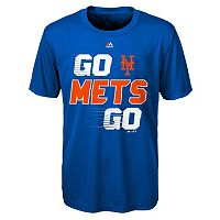 Boys 8-20 Majestic New York Mets Double Header Cool Base Tee