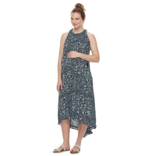 Maternity a:glow Halter Maxi Dress
