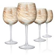 Artland Misty 4 pc Goblet Glass Set