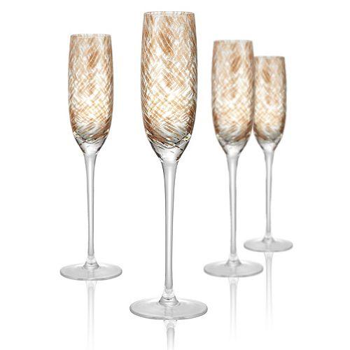 Artland Misty 4-pc. Champagne Flute Set