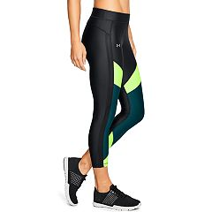 Women's Under Armour HeatGear Color Block Ankle Crop Leggings