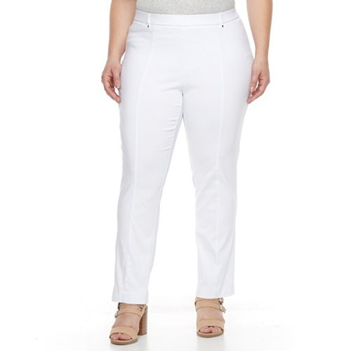 b9da50b50737f Plus Size Napa Valley Slimming Solution Straight-Leg Dress Pants