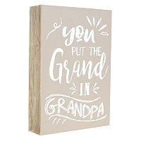 Belle Maison ''Grand in Grandpa'' Box Sign Art