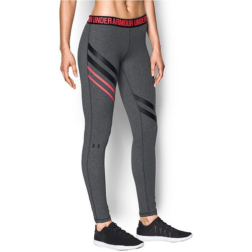 60813a14eb Women's Under Armour Favorite Engineered Striped Leggings