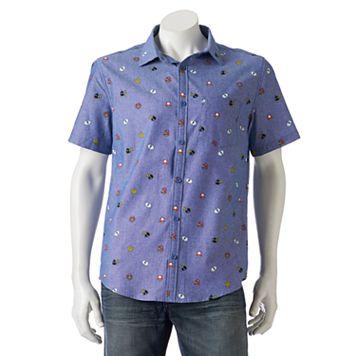 Men's Super Mario Bros. Button-Down Shirt