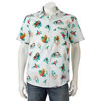 Men's Star Wars Chewbecca Tropical Button-Down Shirt