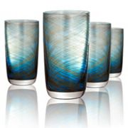 Artland Misty 4 pc Highball Glass Set