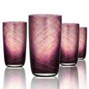 Artland Misty 4 pc Highball Glass Set