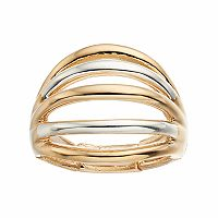 Jennifer Lopez Two Tone Multi Row Stretch Ring