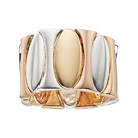 Jennifer Lopez Tri Tone Oval Stretch Ring