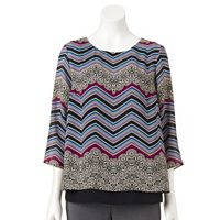 Women's Dana Buchman Zigzag Layered Top