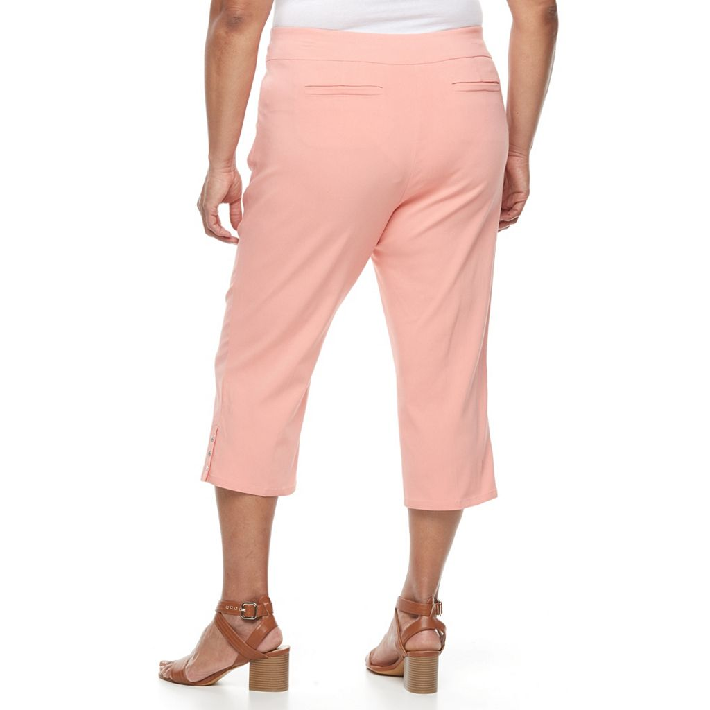 Plus Size Napa Valley Embellished Pull-On Capris
