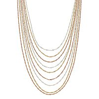Jennifer Lopez Twisted Chain Multi Strand Necklace