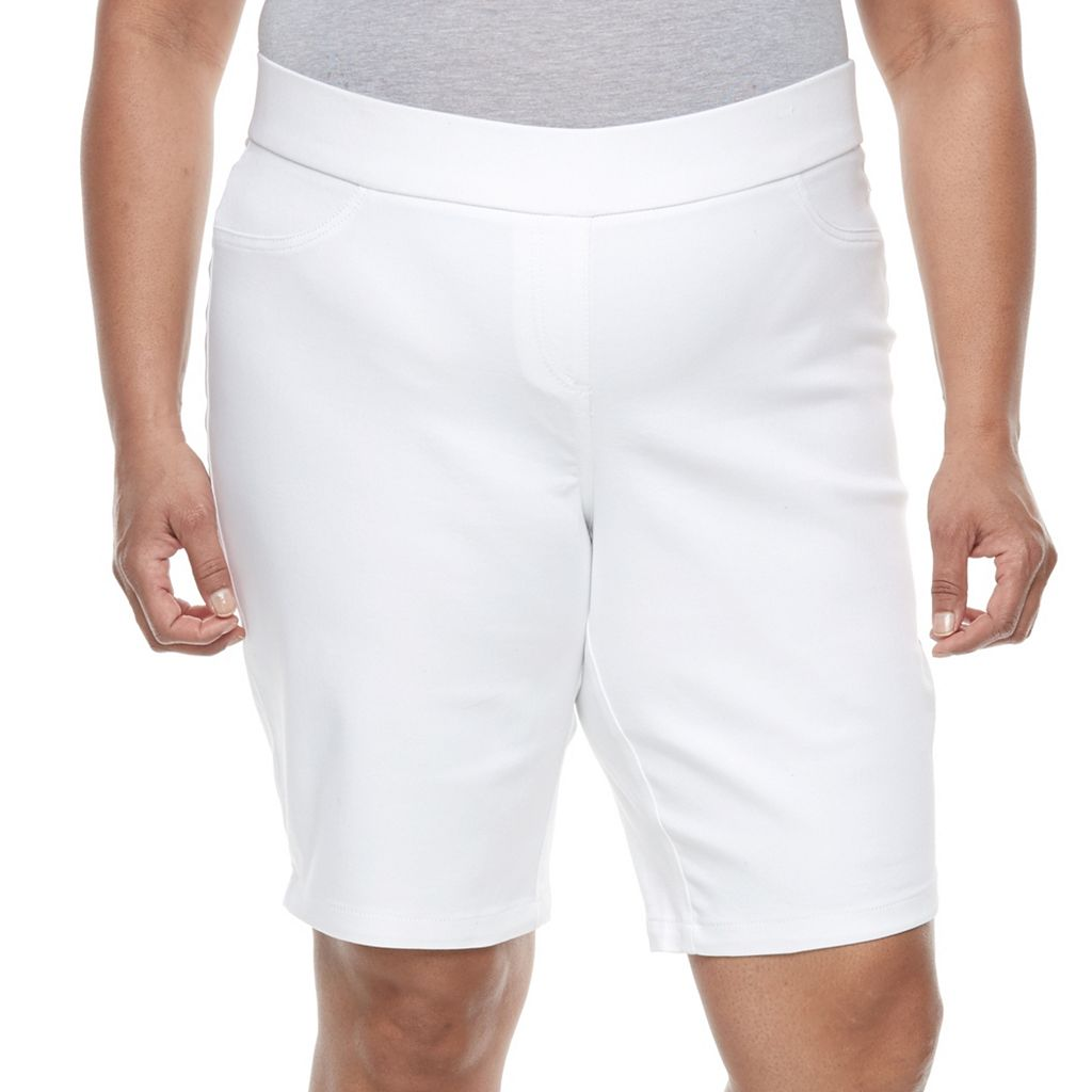 Plus Size Napa Valley Pull-On Bermuda Shorts