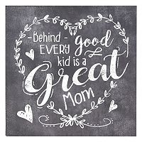 Belle Maison ''Good Kid Great Mom'' Box Sign Art