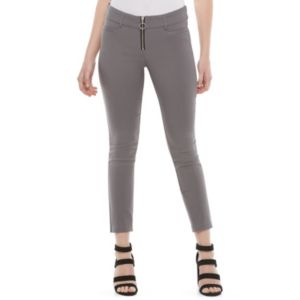 Juniors' Candie's® Audrey Gray Zip-Front Pants